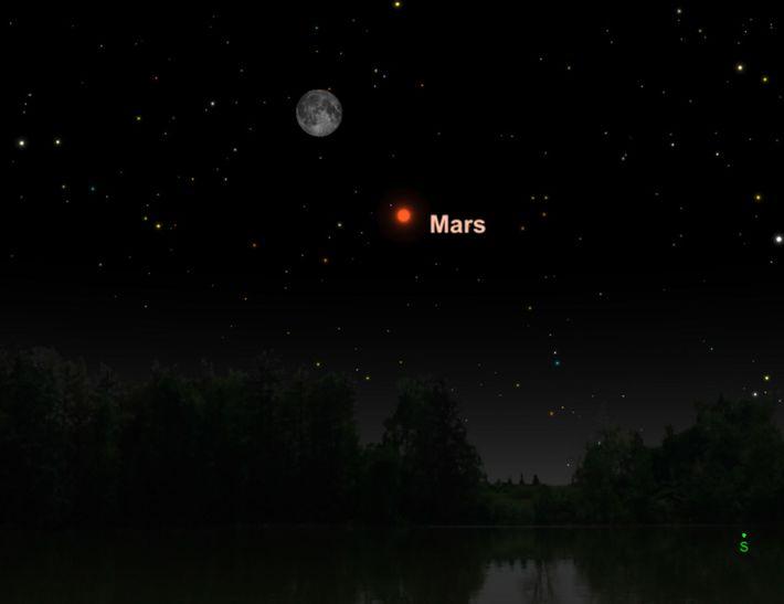 Mars sera plus grand et plus brillant en juillet.