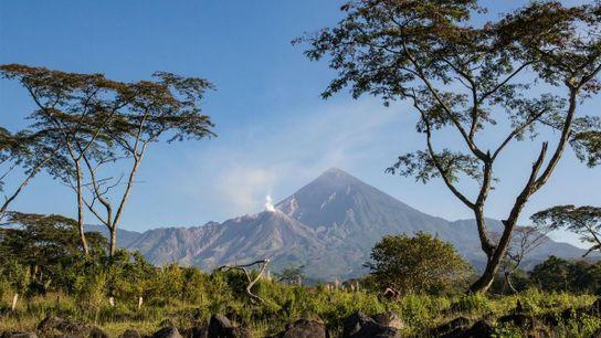 Le dôme de lave Caliente se trouve au pied du volcan Santa María.