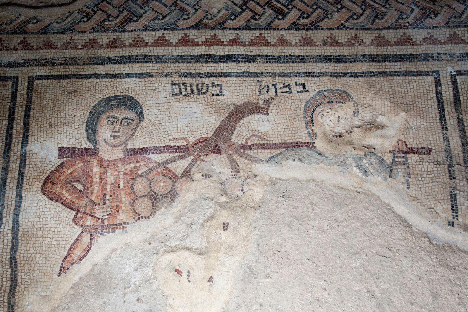 Découverte des espions de Moïse sur une mosaïque vieille de 1 500 ans