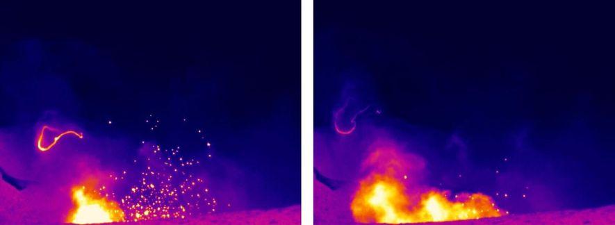 Bien que les cercles de fumées puissent s'étendre sur plusieurs dizaines de mètre, ils n'apparaissent que brièvement et sont imprévisibles, ce qui rend leur étude difficile.