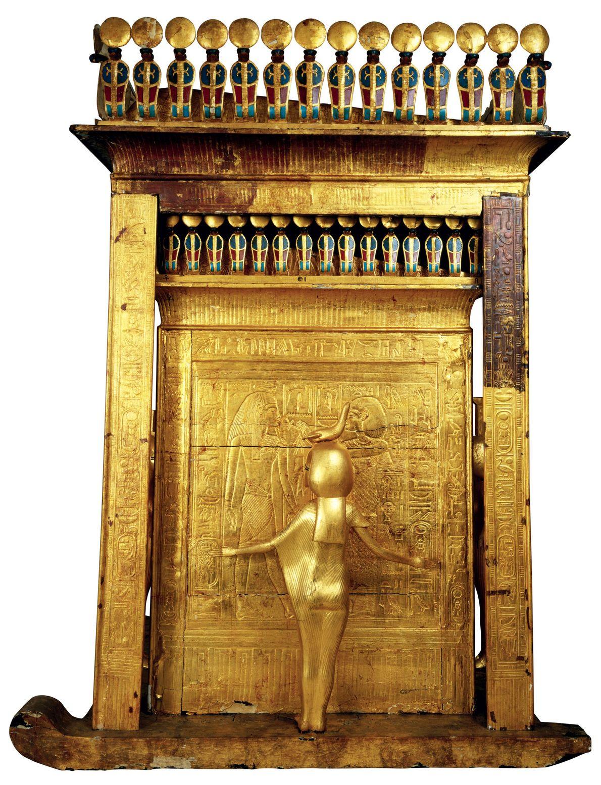 Carter était fasciné par le sarcophage doré du pharaon « le plus beau monument que j'ai ...