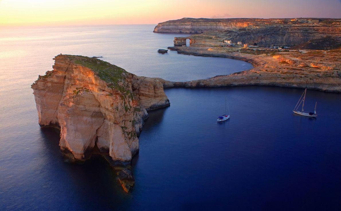 Gozo, Malte. Depuis Malte, il ne vous faudra que 25 mn pour atteindre l'île de Gozo ...