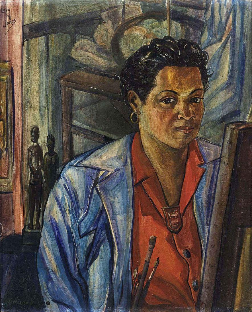 Les peintures de Loïs Mailou Jones lui permettaient de faire le lien entre son identité d'Américaine noire et la culture traditionnelle africaine.