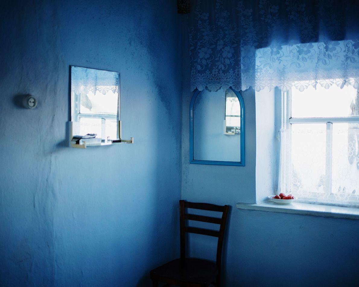 L'intérieur de la maison d'un habitant de Besalma, en Moldavie.