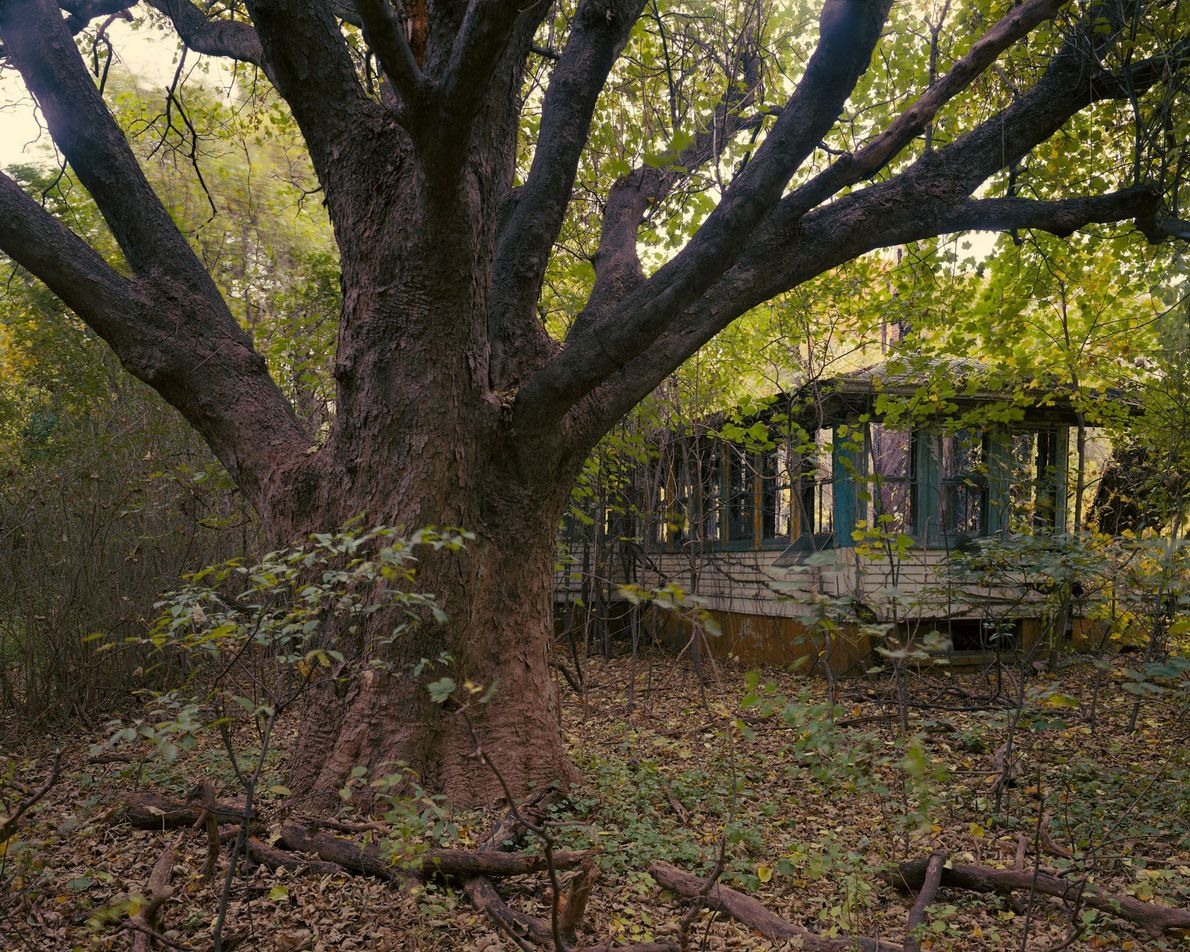 La maison du gardien de prison est l'une des nombreuses ruines qui rappellent aux visiteurs le ...