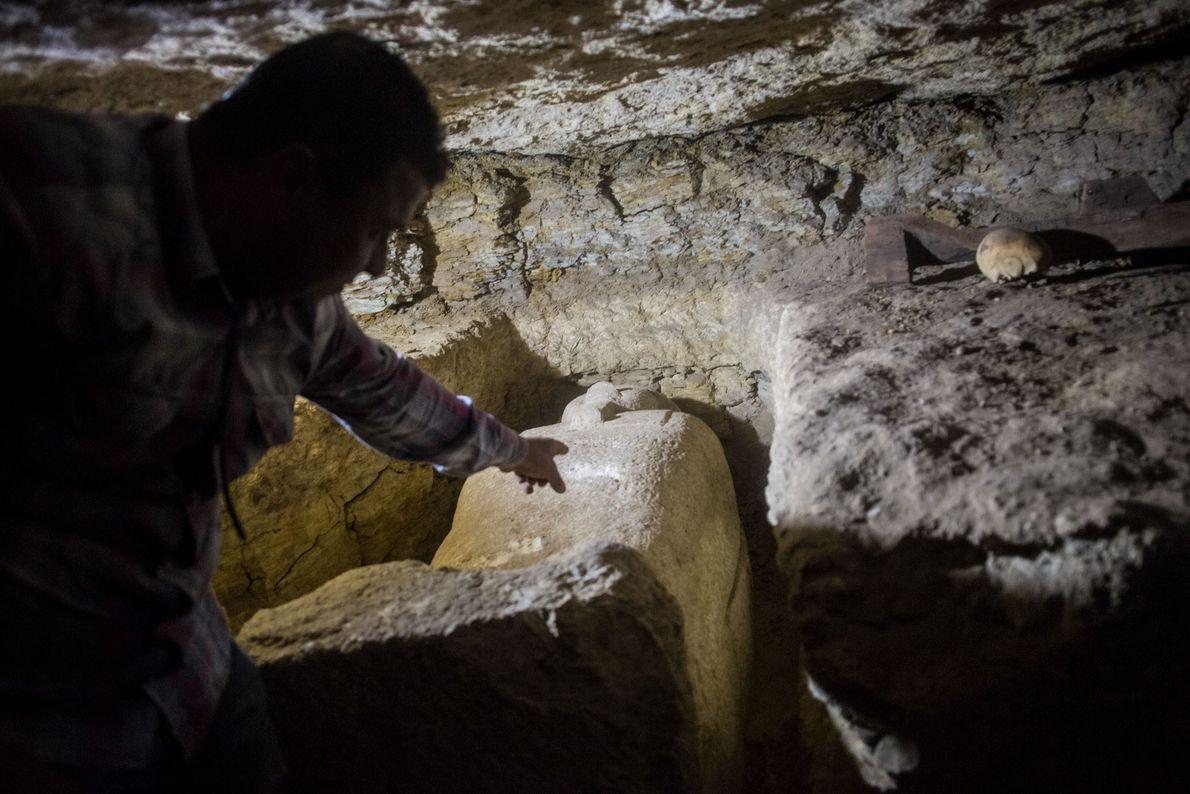 À ce jour, huit tombes ont été mises au jour dans la nécropole.