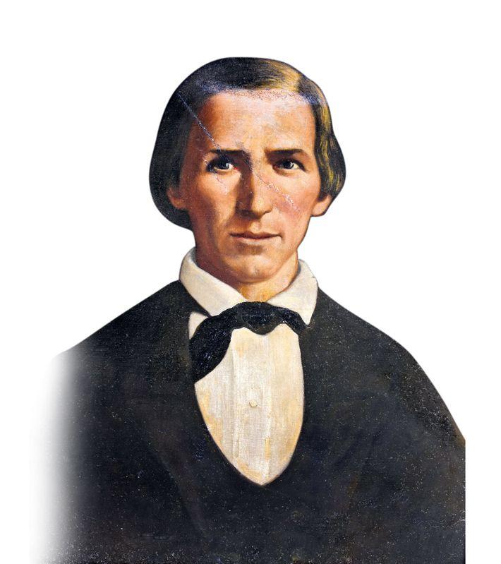 Peinture du 19e siècle représentant Robert James, pasteur, agriculteur et propriétaire d'esclaves, mort alors que Jesse était ...