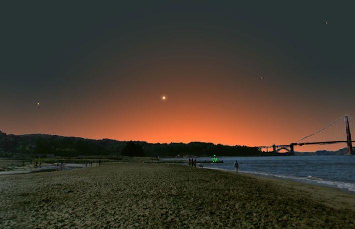 Mercure sera au plus loin du soleil et donc plus facile à repérer dans le ciel ...