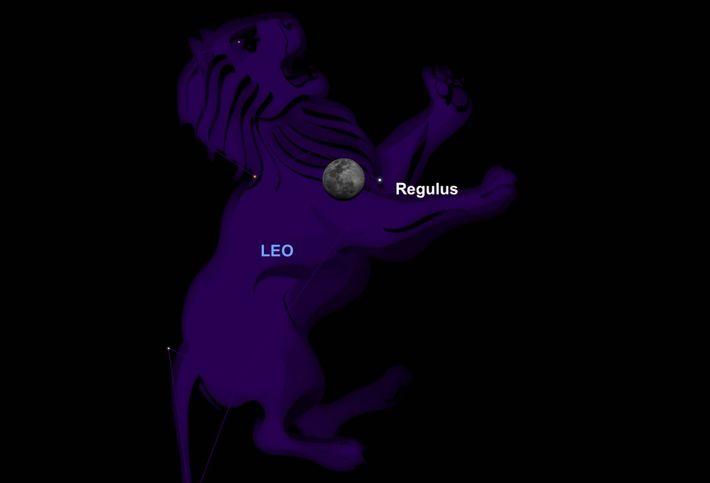 Le 18 mars, la Lune glissera près du cœur de la constellation du Lion.