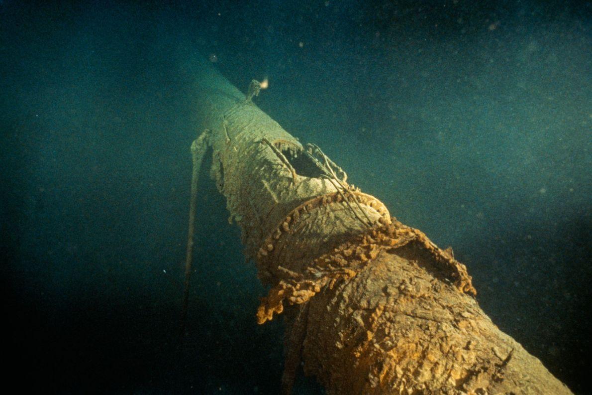 Le mât avant du Titanic montre quelle était la position du nid de pie.