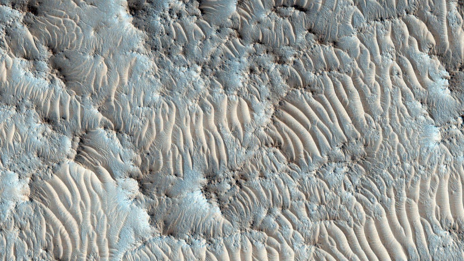 La NASA a choisi le cratère de Jezero, représenté ici sur une image de l'orbiteur de ...