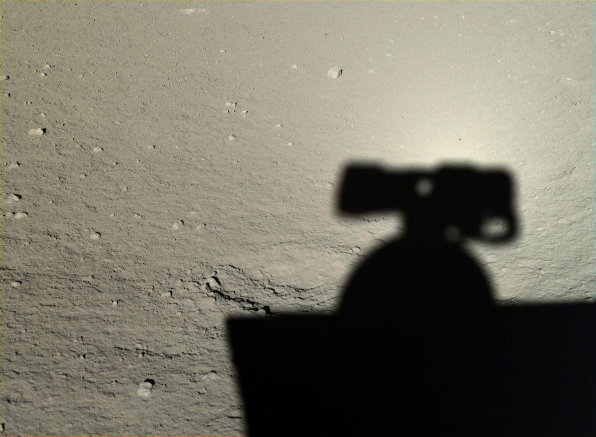 Photo du rover Yutu sur la lune