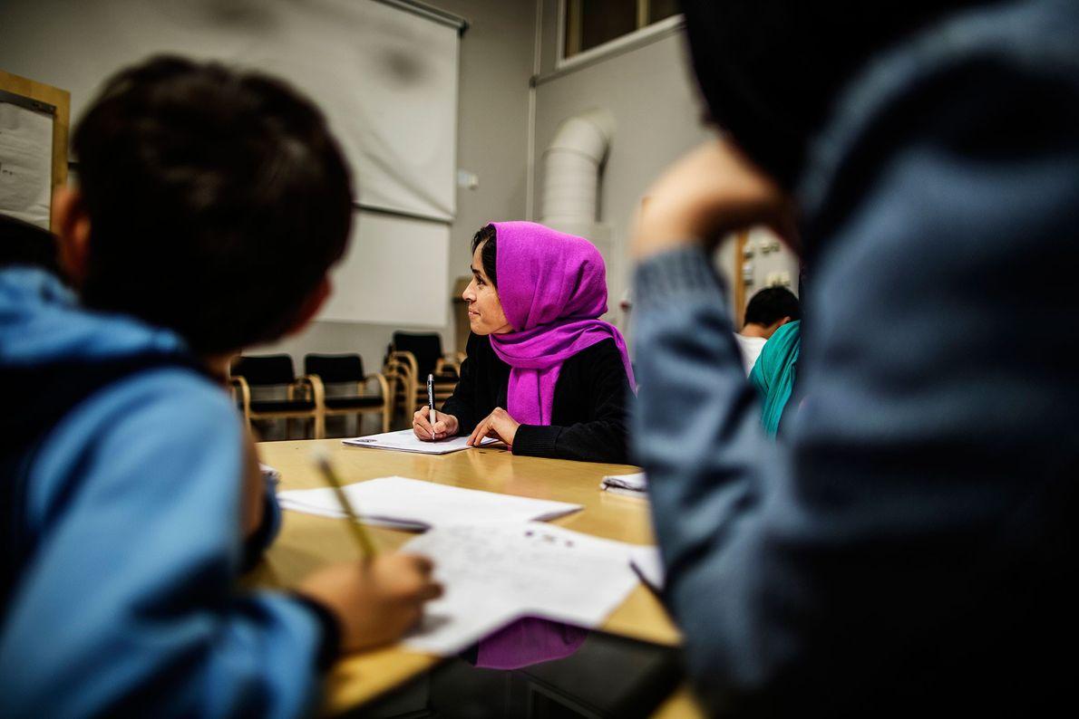 Image d'une classe en Suède