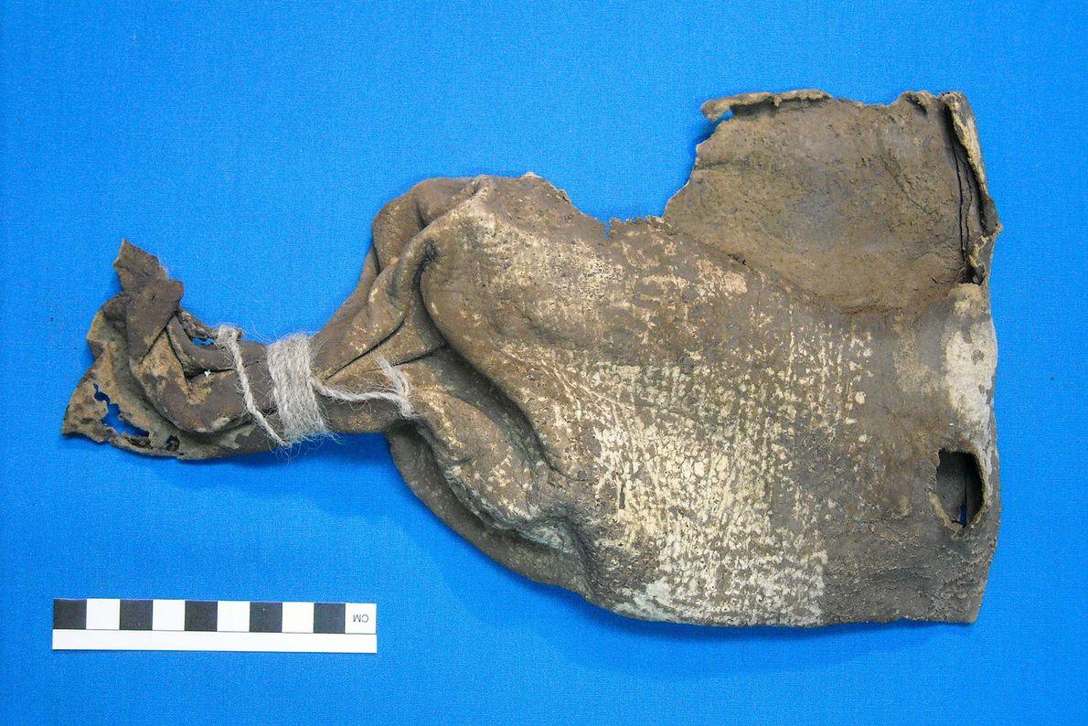 L'étui en museau de renard a été découvert dans une sacoche en cuir plus grande en ...