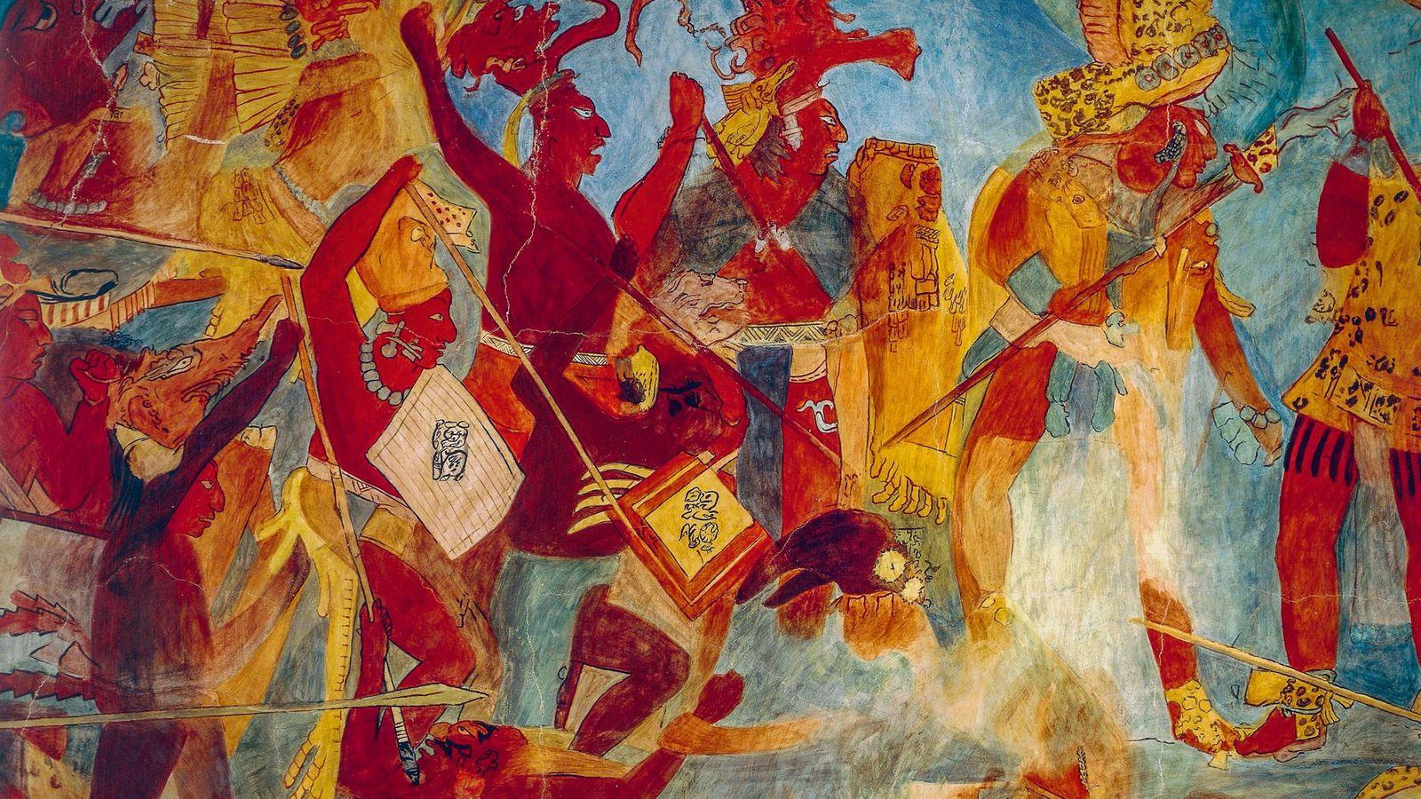 Les universitaires ont longtemps considéré que les Mayas n'avaient basculé dans la guerre totale (déchaînement de ...