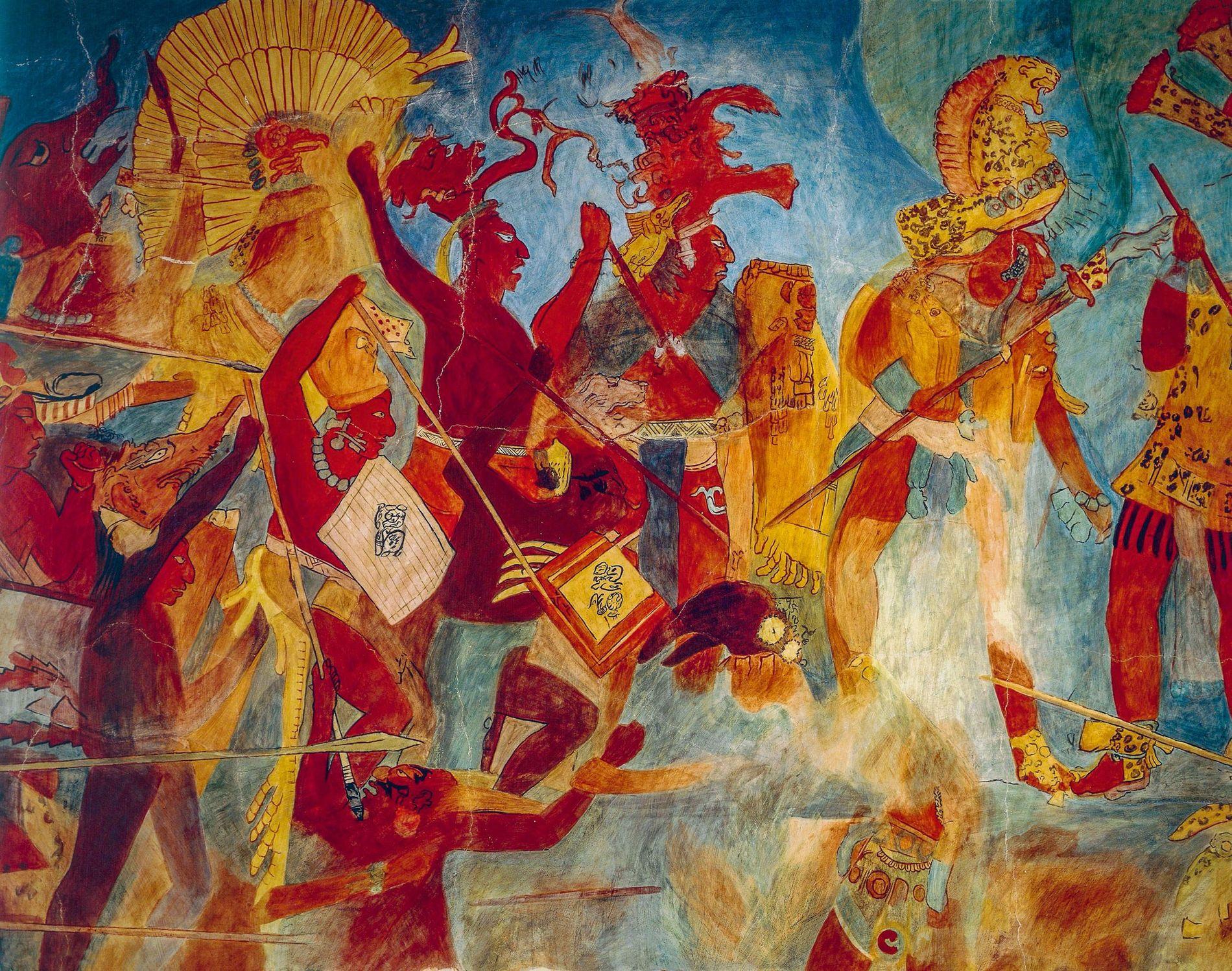 Les universitaires ont longtemps considéré que les Mayas n'avaient basculé dans la guerre totale (déchaînement de violence sans retenue visant à détruire entièrement les villes) qu'après être entrés en rivalité pour les ressources suite à une série de sécheresses qui aurait débuté au 9e siècle de notre ère.