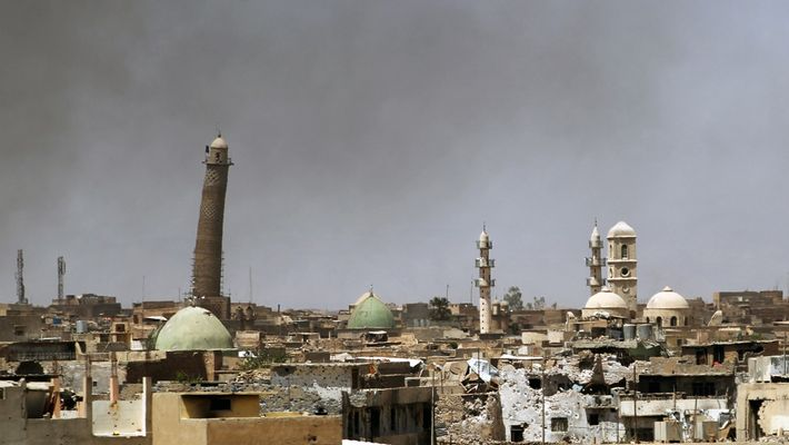 Le minaret iconique de Mossoul était le symbole de la résilience des habitants de la ville, ...