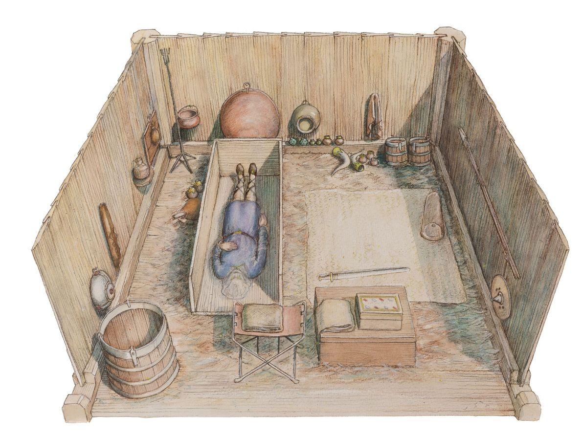 Après plus de dix ans de recherches rigoureuses, des archéologues sont parvenus à reconstruire la chambre ...