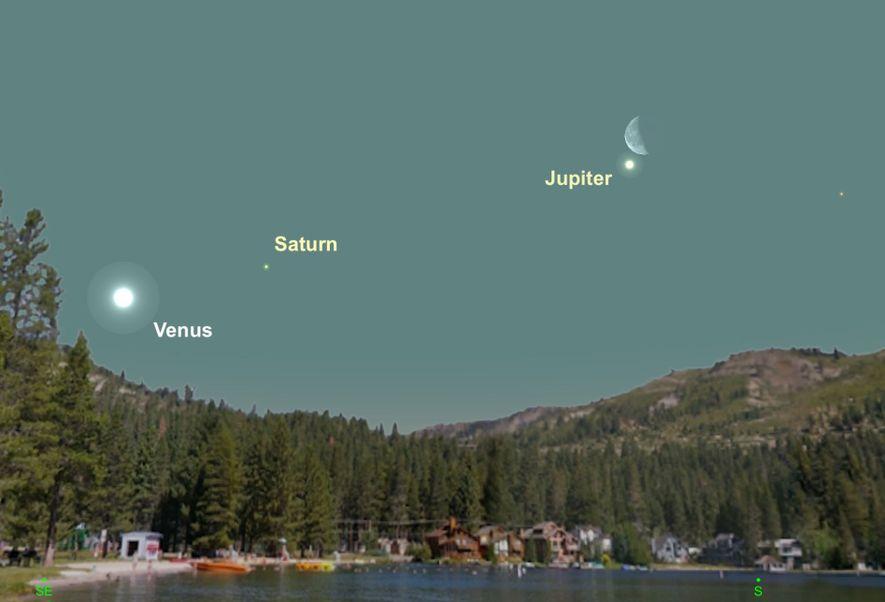 La brillante Jupiter sera blottie tout près de la Lune le 27 février.