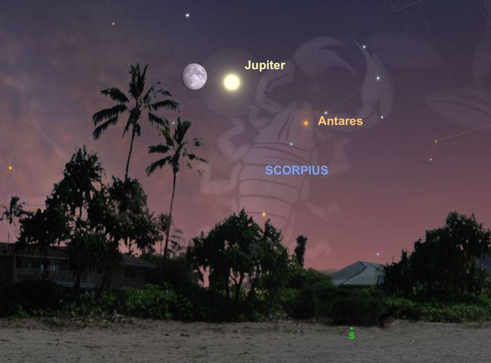 La Lune se rapprochera de Jupiter le 13 juillet.