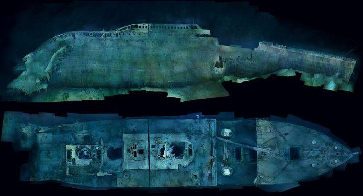 Les vues éthérées du Titanic offrent un niveau de détail jamais vu auparavant. Les mosaïques optiques ...