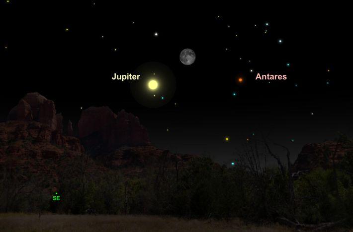 Le 20 mai, l'étincelante Jupiter se joindra à la Lune gibbeuse pour le plus grand plaisir ...