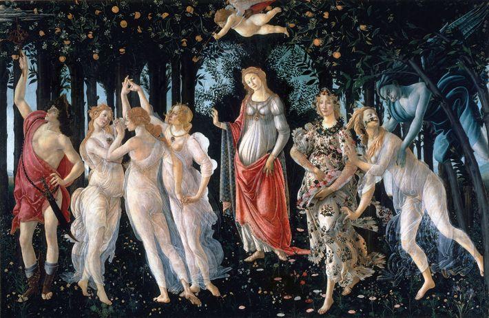 Botticelli a terminé « Le Printemps » en 1482 pour un parent de Laurent de Medicis. Le ...