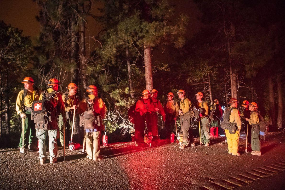 Lors d'une opération de lutte contre les incendies qui a eu lieu le 8 août, les ...