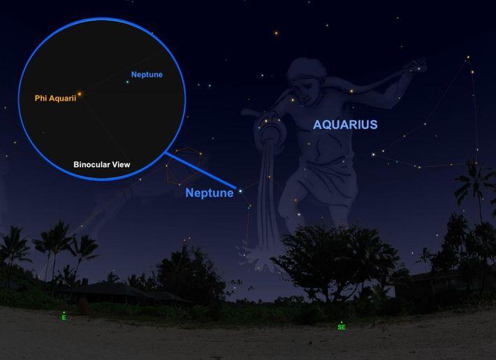 Le 10 septembre, la géante de glace Neptune arrivera à son point le plus brillant et ...