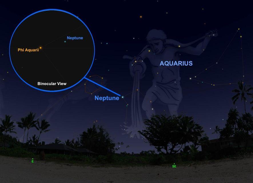Le 10 septembre, la géante de glace Neptune arrivera à son point le plus brillant et le plus bleuté mais pour la repérer au beau millier des étoiles de la constellation du Verseau, vous aurez besoin d'un petit télescope.