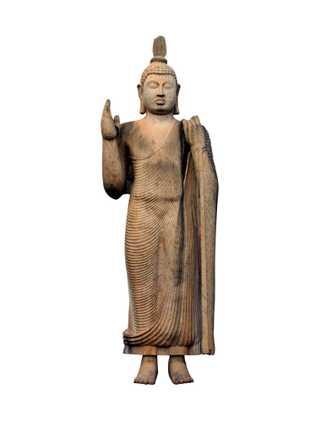 Le bouddha Avukana au Sri Lanka, haut de 12 mètres, a été sculpté au Ve siècle, ...