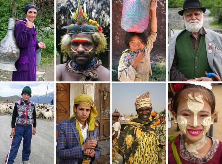 Photo de personnes de différents pays visités par Albert Podell