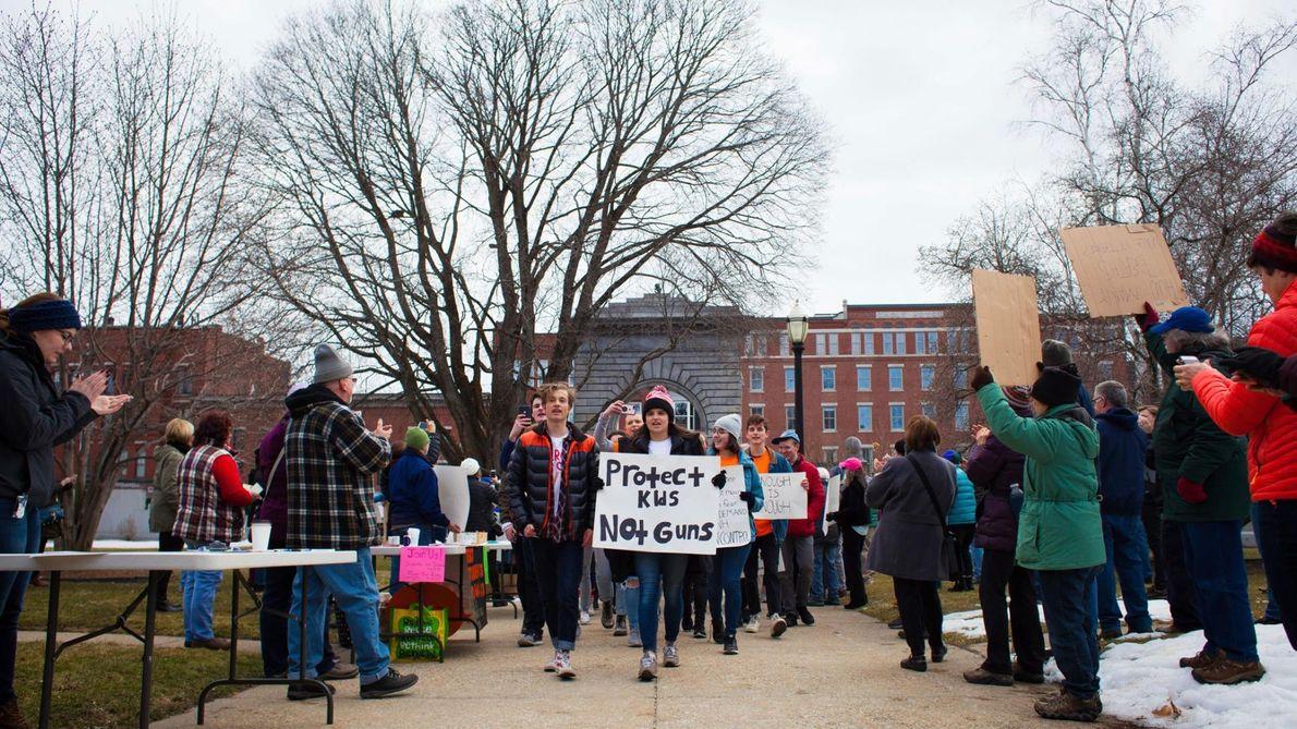 Parmi les manifestants de la « March for Our Lives : Concord », se trouvaient des ...