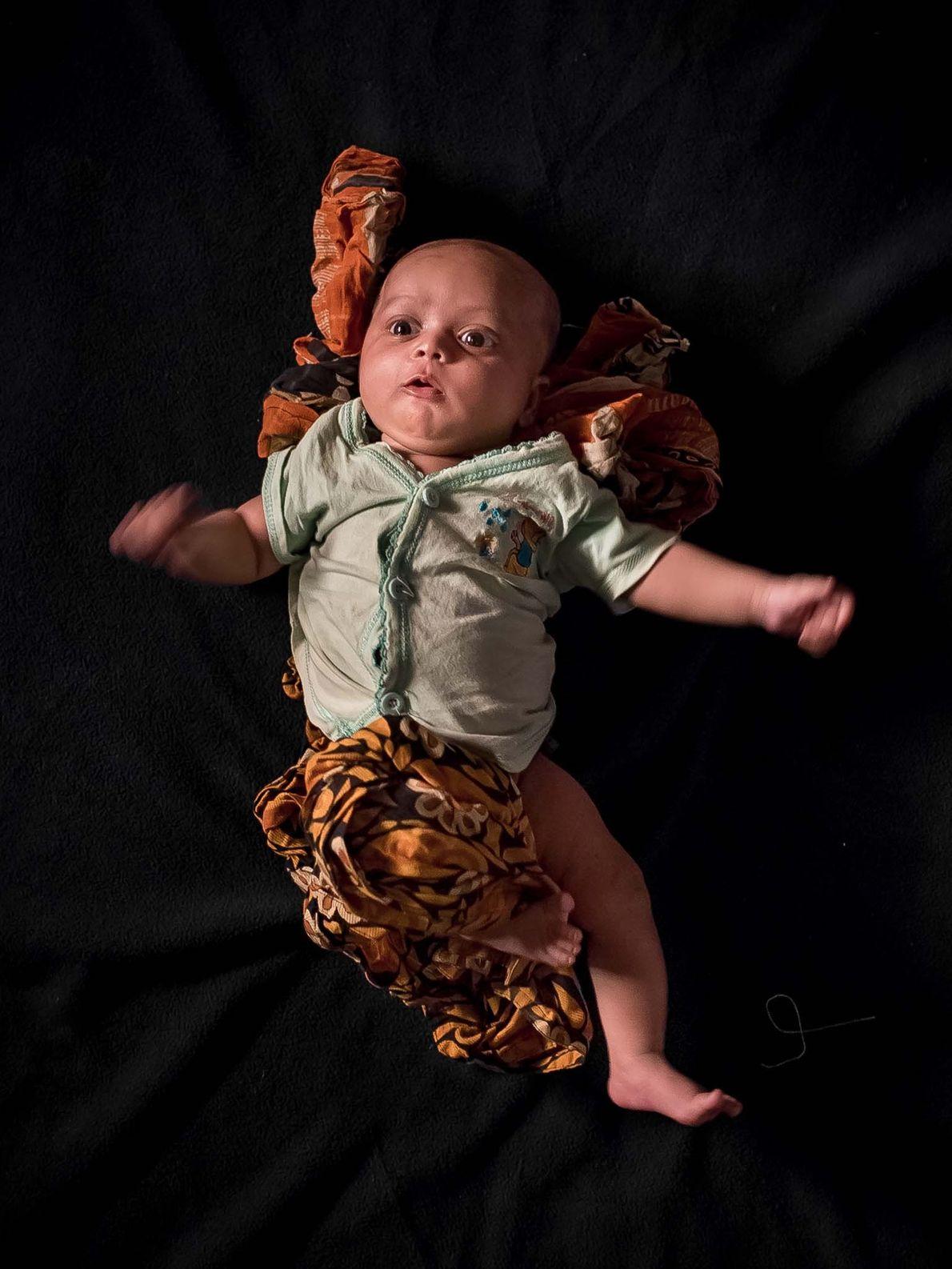 Yasir, âgé de 1 mois.