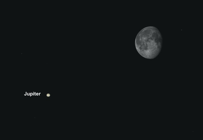 Jupiter se rapprochera de la Lune le 23 avril, offrant ainsi une exceptionnelle opportunité astro-photographique.