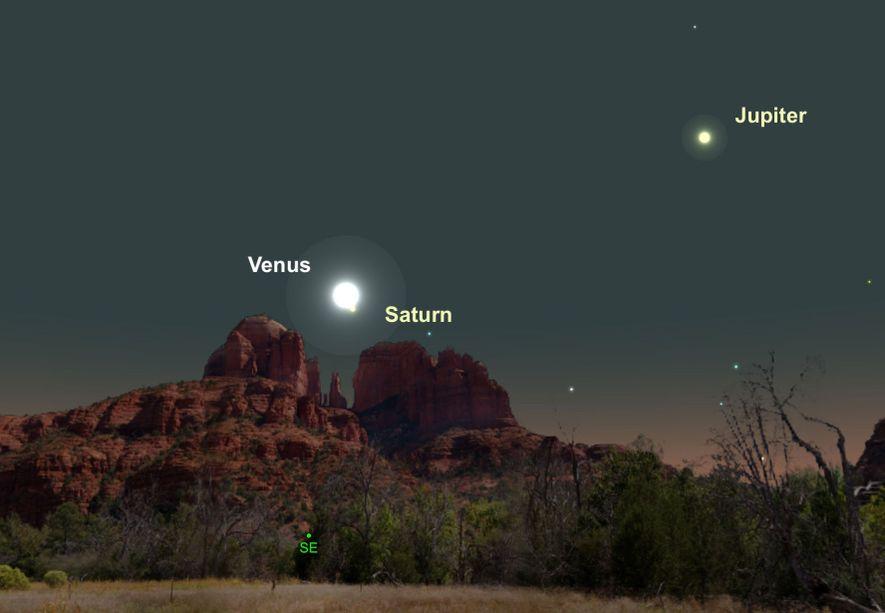 Deux des plus brillantes planètes, Vénus et Saturne, seront particulièrement proches dans le ciel le 18 février.
