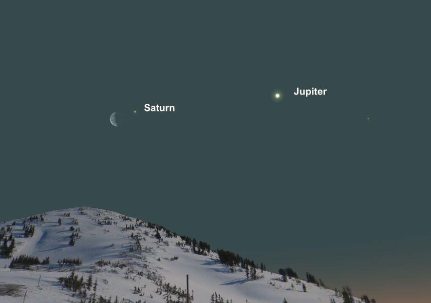 Fin mars, la Lune se tournera du côté de Saturne.
