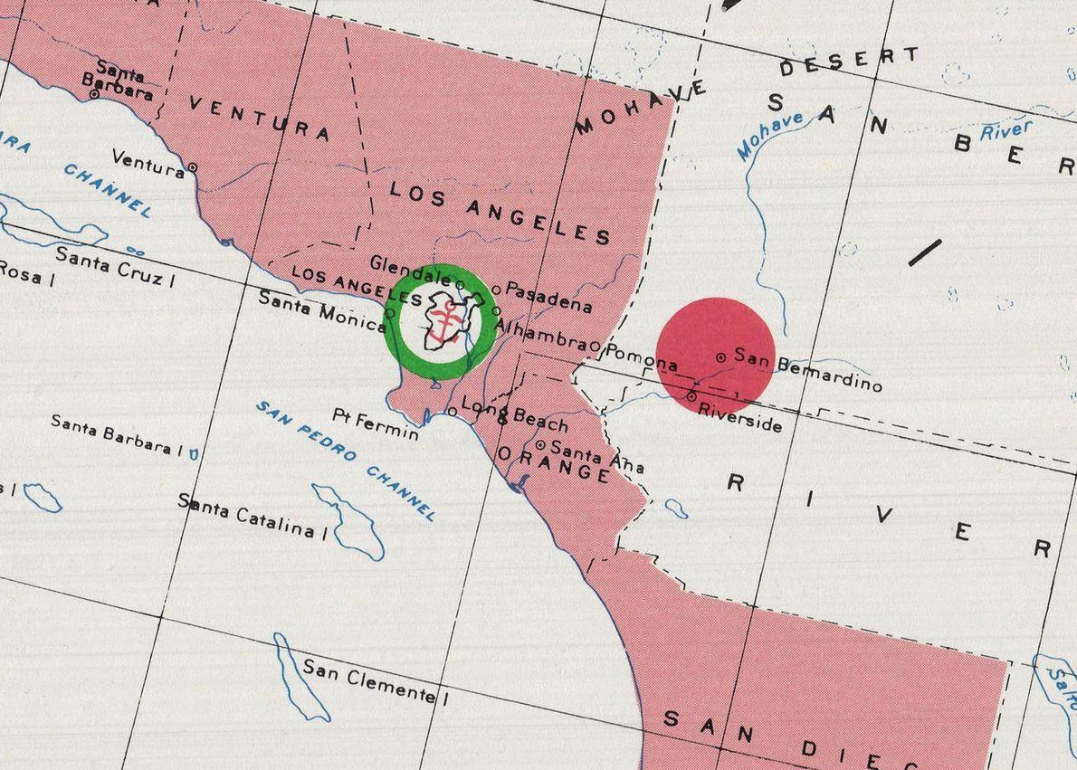 Les visiteurs soviétiques pouvaient visiter Los Angeles, mais le port, comme la ville de San Bernardino ...