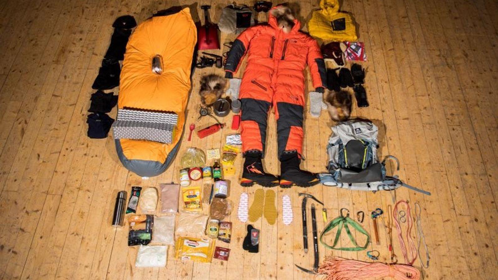 Pour l'ascension du Mount Hunter en Alaska qui durera 19 jours, l'explorateur de l'Arctique Lonnie Dupre ...