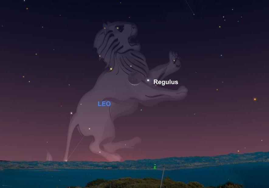 En 1940, des photons de lumière jaillissaient de l'étoile Régulus située au cœur de la constellation du Lion. Aujourd'hui, 79 ans et un voyage à travers le cosmos plus tard, cette lumière se reflètera sur la Lune avant d'être captée par nos globes oculaires.