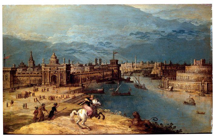 Inspiré par les légendes autour de l'intrépide reine assyrienne, le peintre du 17e siècle Louis de ...