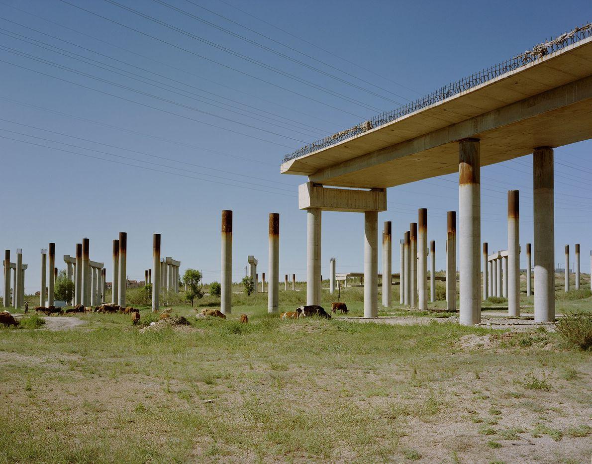 La ville d'Ordos, dans la région autonome chinoise de Mongolie-Intérieure, dispose toujours de réserves abondantes de ...