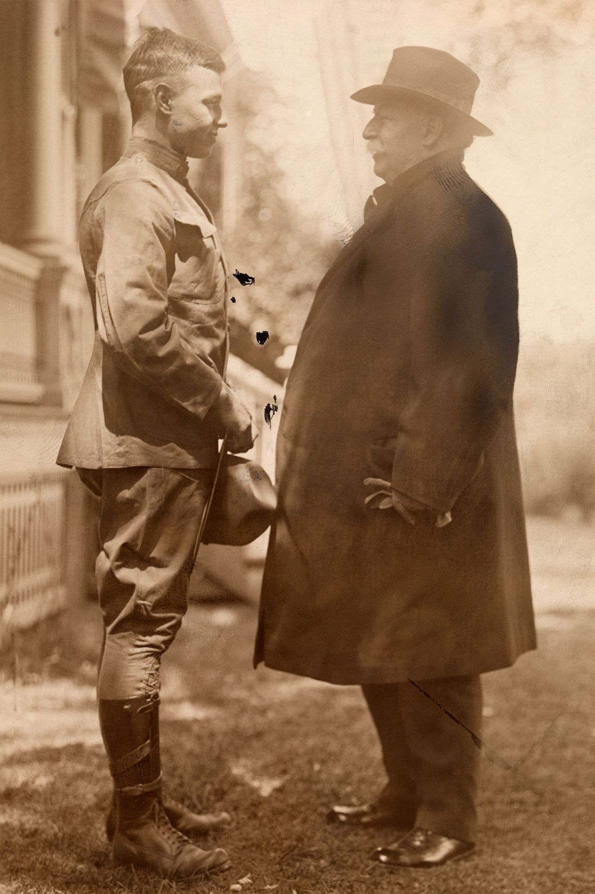 Sur ce cliché pris au début du XXe siècle, l'ancien Président des États-Unis, William Howard Taft, ...