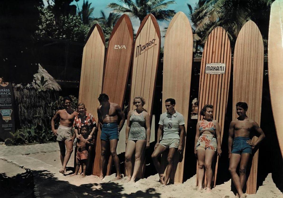 Planches de surf à l'ancienne