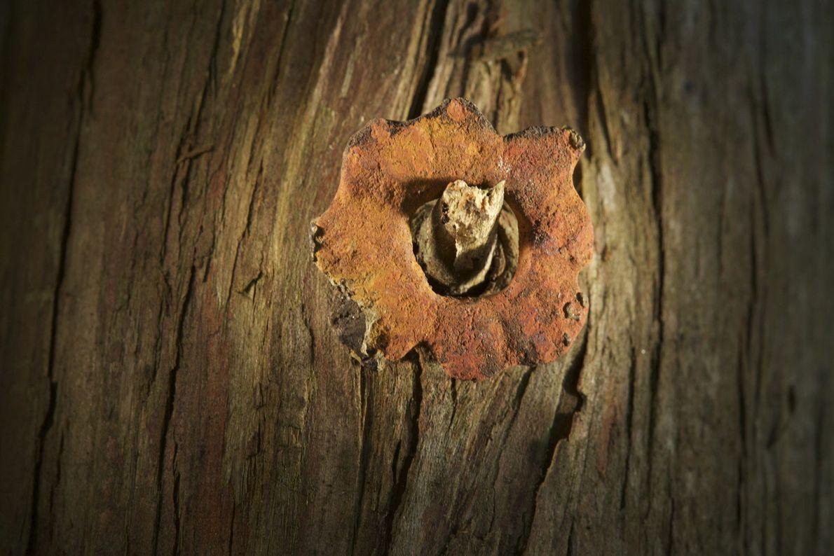 Image d'un œillet en cuivre moulé pour vêtements