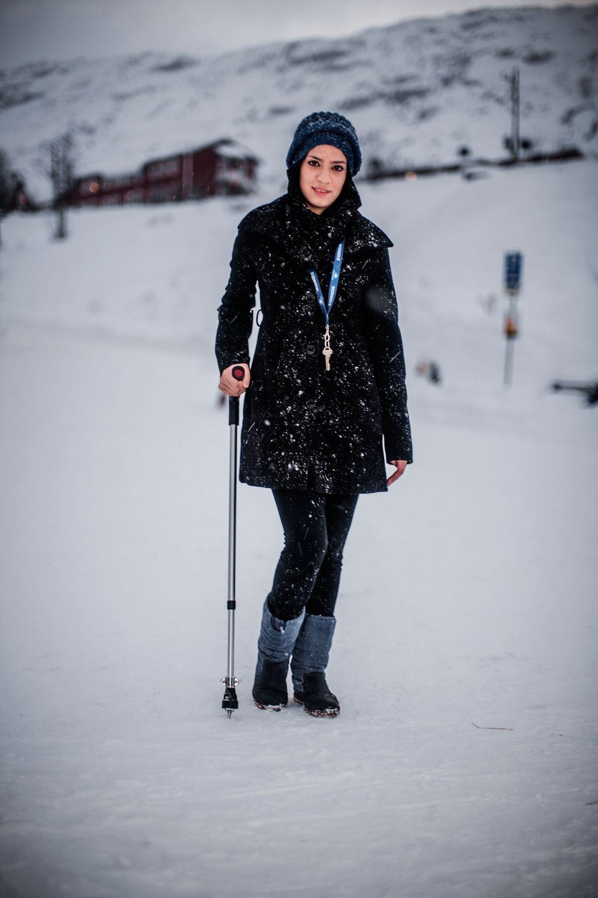 Image de Roya Hosseini, 14 ans, qui s'est enfuie avec sa famille en Suède