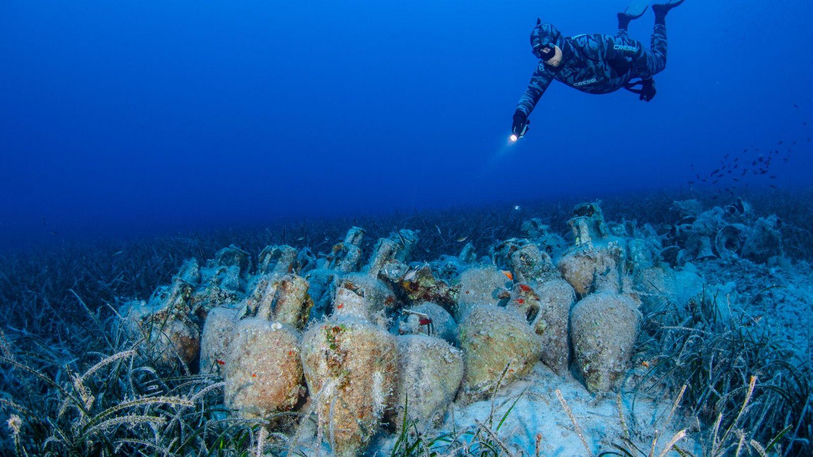 En Grèce, le nouveau musée sous-marin dont l'ouverture est programmée en juin 2021 offrira la possibilité aux ...
