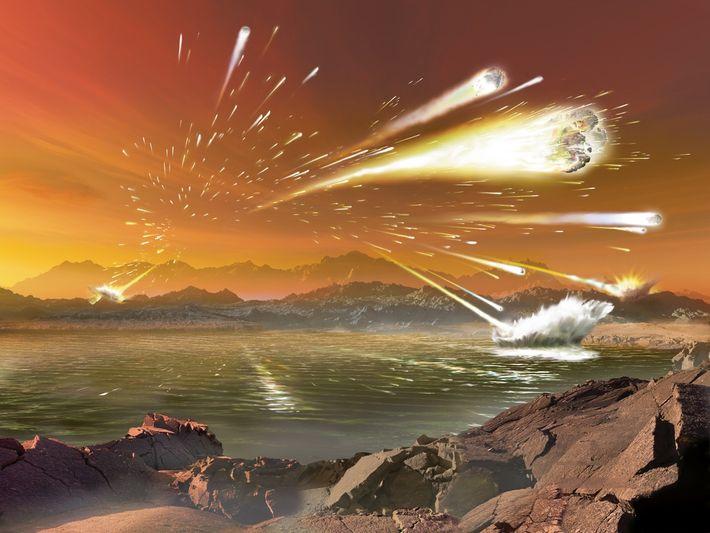 Il y a environ 3,8 à 4 milliards d'années, la Terre fut victime du Grand Bombardement ...