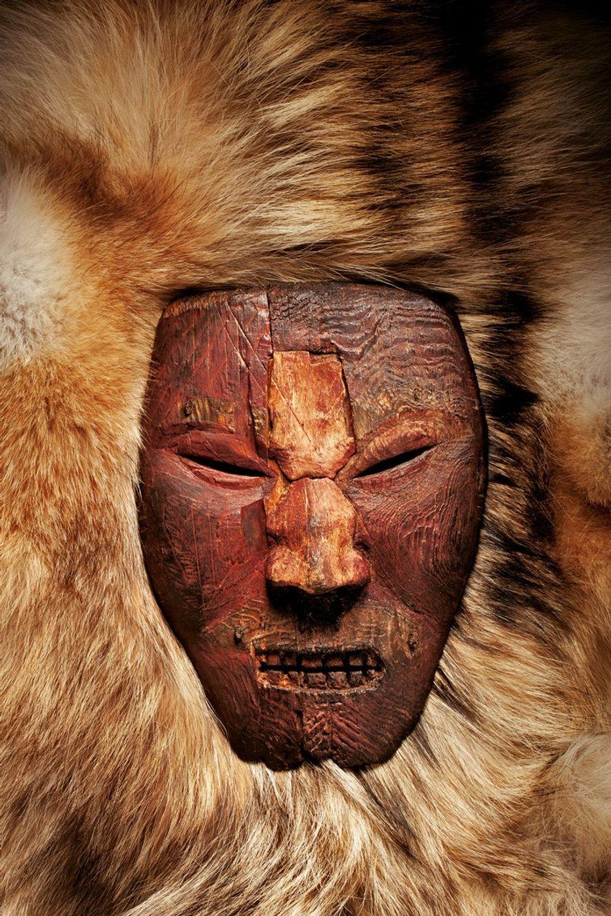 De nouveaux indices donnent à penser que les anciens Américains qui sculptèrent ce masque à l'expression féroce étaient en relation avec des Vikings.