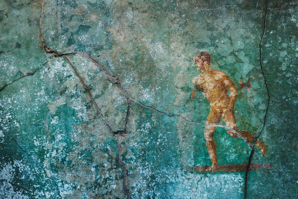Fresque représentant la fuite de Pompéi
